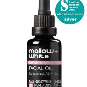 Mallow + White natural skincare organic facial oil green eco beauty