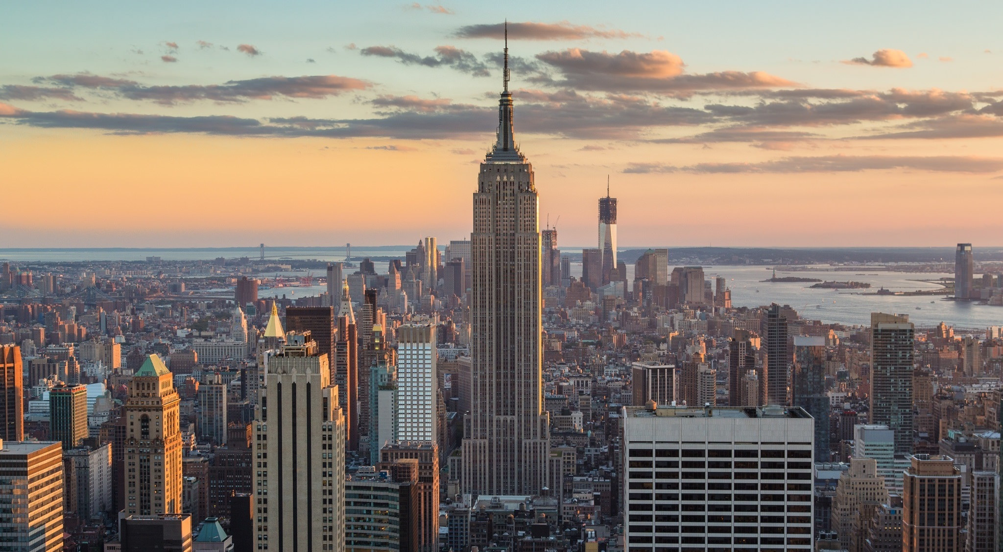 New York skyline from above by Sam Valadi, solar energy, green power, Yeloha